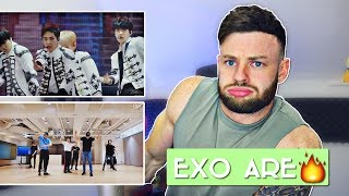 FIRST TIME Reacting to EXO - THE EVE |  DANCE PRACTICE & JAPAN PERFORMANCE