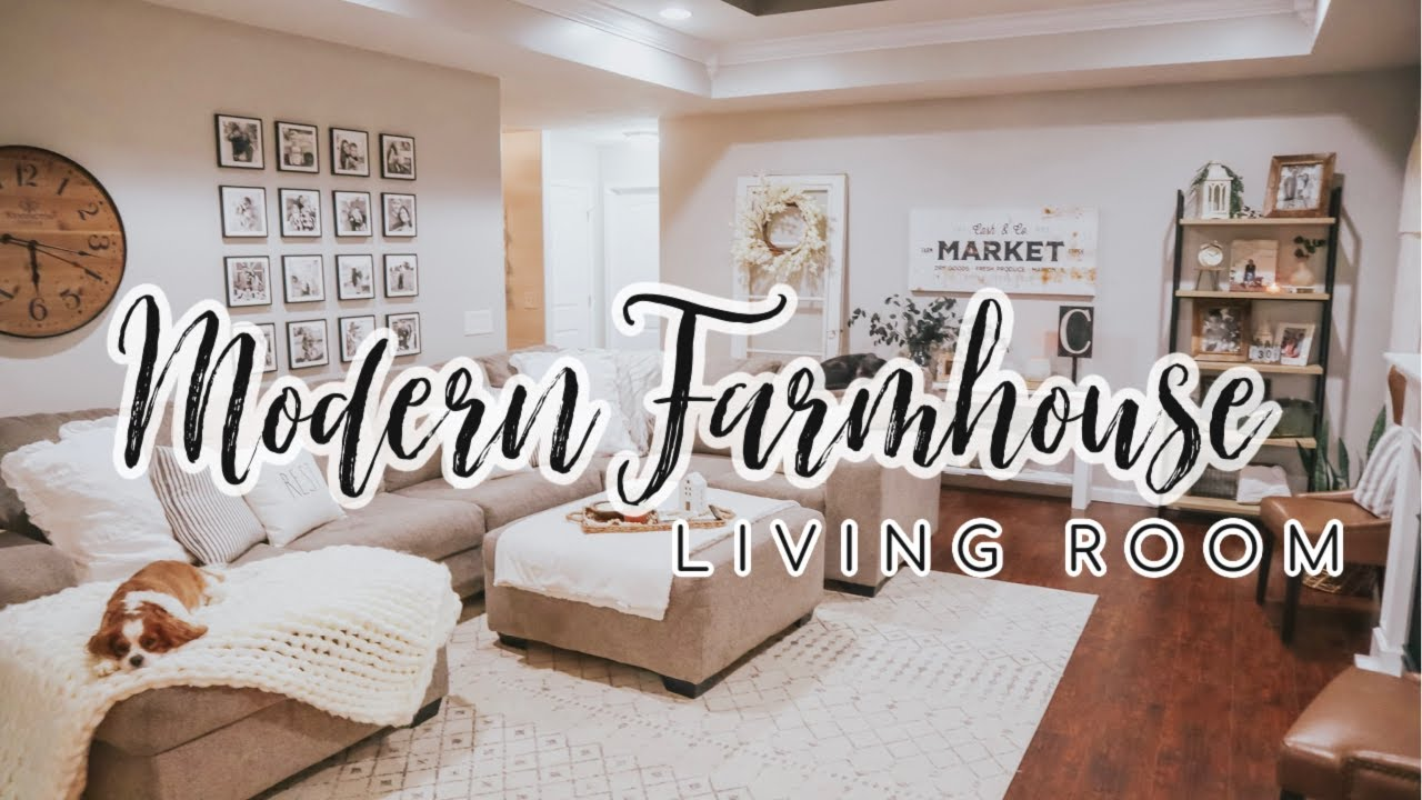 New Modern Farmhouse Living Room Tour Cozy Neutral Home Decor 2020 Kailyn Cash Youtube