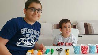Berat ile Buğra Top Atan Oyuncak Tabanca Yaptı