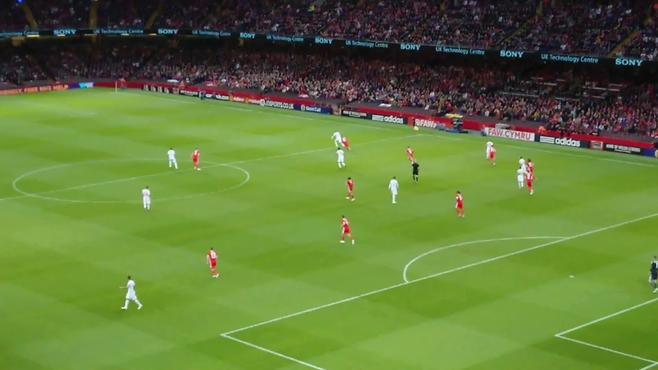 Wales v Spain Friendly 2018 (Welsh Anthem sung by fans ...