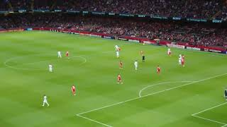 Wales v Spain Friendly 2018 (Welsh Anthem sung by fans during Match)
