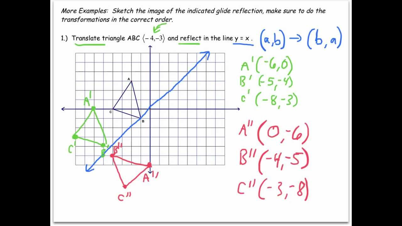 hight resolution of Transformation in Geometry (worksheets