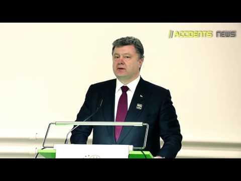 Politdarsteller Petro Poroshenko bedankt sich für das töten von Kinder!!!