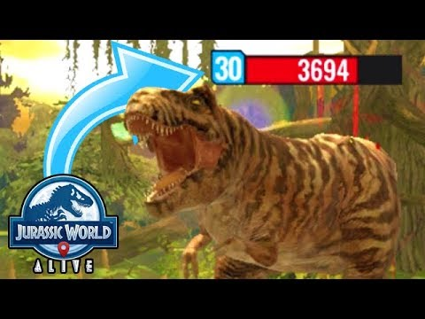 BEATING LEVEL 30s!!! BEST PLAYER IN THE WORLD!!! (JURASSIC WORLD ALIVE)