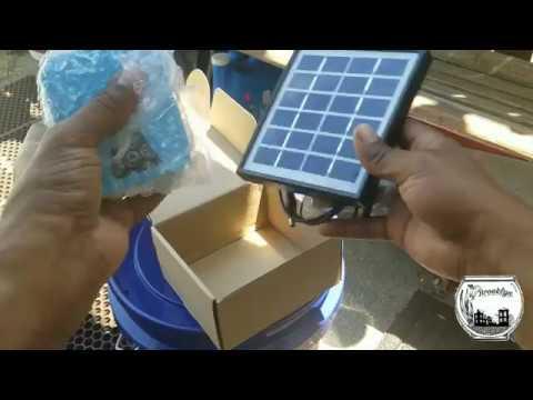 Setting Up A Solar Powered Air Pump