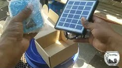Setting up a Solar Powered Air Pump