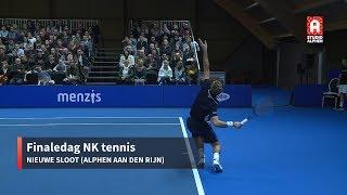 Finales NK tennis in Alphen aan den Rijn