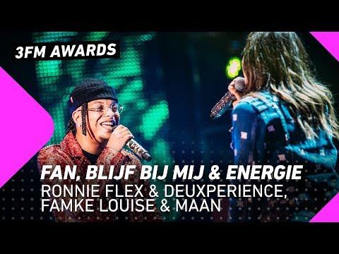 Ronnie Flex & Deuxperience, Famke Louise & Maan – Fan, Blijf Bij Mij & Energie | 3FM Awards