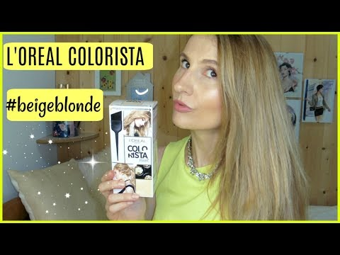 L'OREAL COLORISTA PAINT #BEIGEBLONDE HAIR COLOR REVIEW - 동영상
