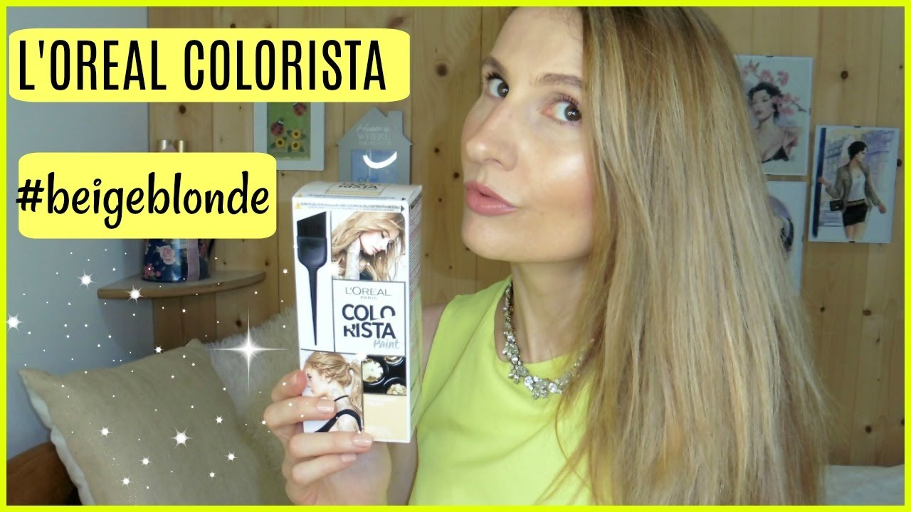 L Oreal Colorista Paint Beigeblonde Hair Color Review Youtube