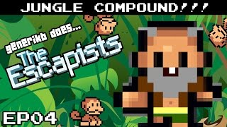 """The Escapists Gameplay S04E04 - """"Nervous Nelly!!!"""" Jungle Compound"""