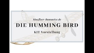 [Modellschau] DH.53 Humming Bird Slow Flyer KIT, 500 mm Spannweite, 1/20 Maßstab, Balsa Holz