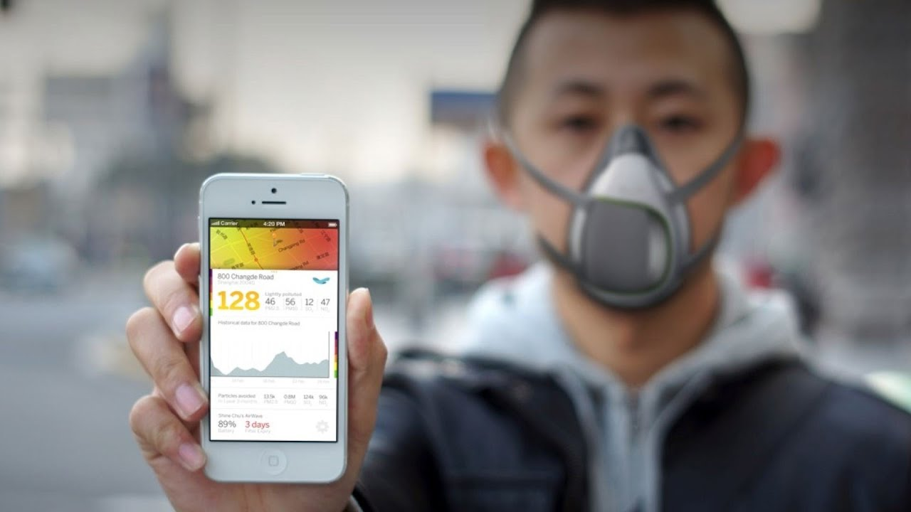 A High Tech Pollution Mask For China