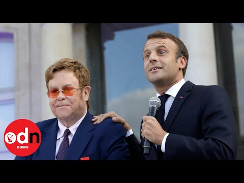 Jeff K - Elton John receives Legion d'Honneur from French President Emmanuel Macron