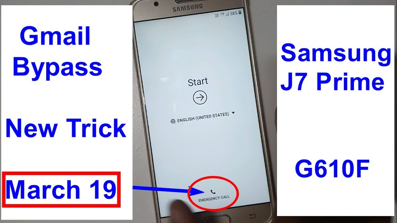 Samsung Galaxy J7 Prime SM G610F Gmail Bypass And Frp Reset New MARCH 2019