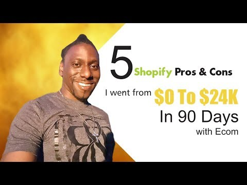 5 Pros and Cons| Shopify Review 2017 | How I went from $0 to $24K in 90 Days