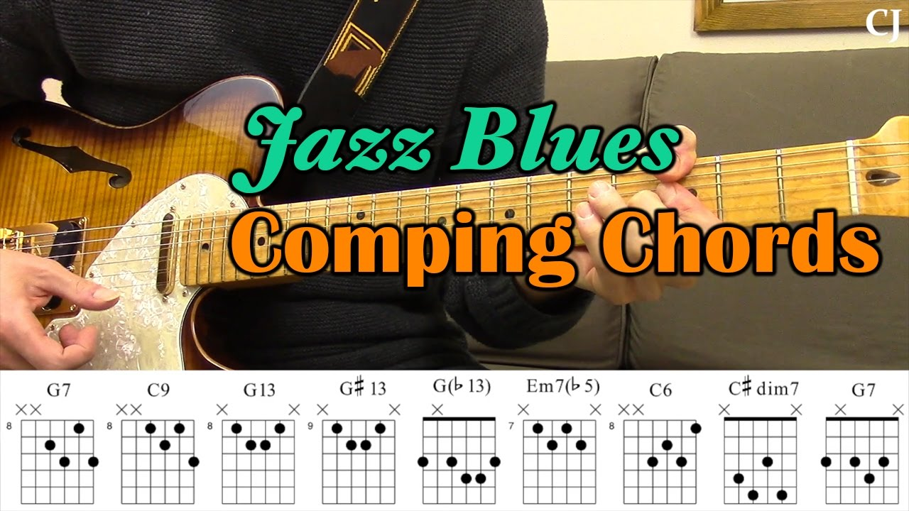 Jazz Blues Comping Chords With Chord Boxes Guitar Lesson