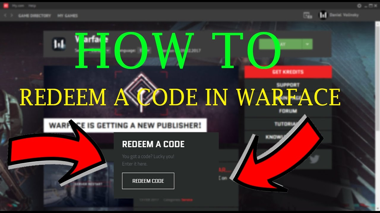 Warface - How To Redeem A Code - Full Tutorial