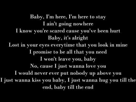 RIGHT HERE - JUSTIN BIEBER-(lyrics)