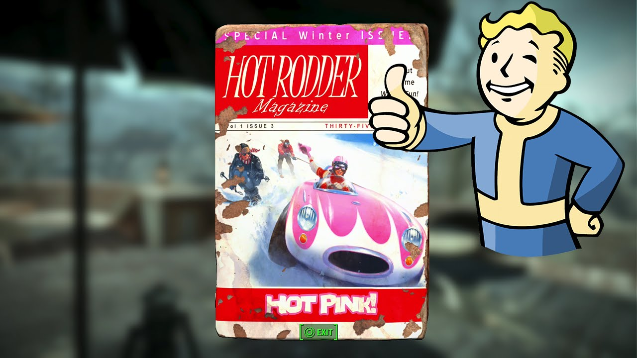 Fallout 4 | Hot Rod Hot Pink Magazine Location + Free Power Armor ...