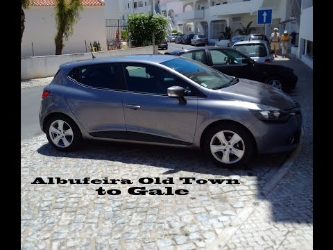 Drive From Albufeira Old Town To Gale. Algarve, Portugal. HD