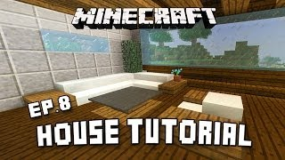 How To Make Modern Living Room Furniture In Minecraft   (Scarland Fishing Cabin Part 8)