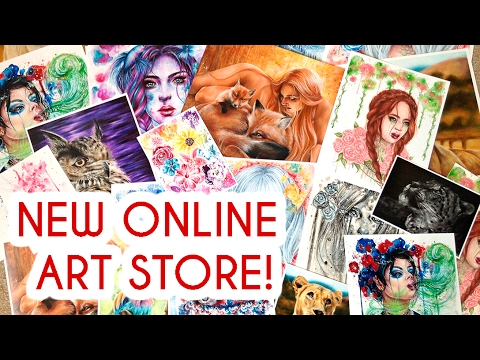 MY NEW ONLINE ART STORE! Prints + Originals