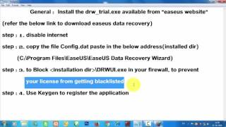 Installation of Ease US Data Recovery with Activation Code   |  Ease US Data Recovery with Crack