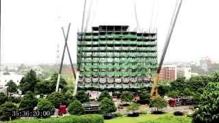 Строительство в Китае (Building in China). 15 этажей за 48 часов!