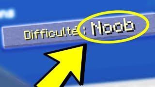 """NOUVELLE DIFFICULTE """" NOOB """" DANS MINECRAFT !"""