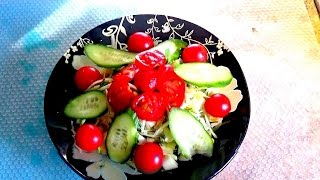 Лёгкий, вкусный. полезный, салат, Рецепт. Легко и просто