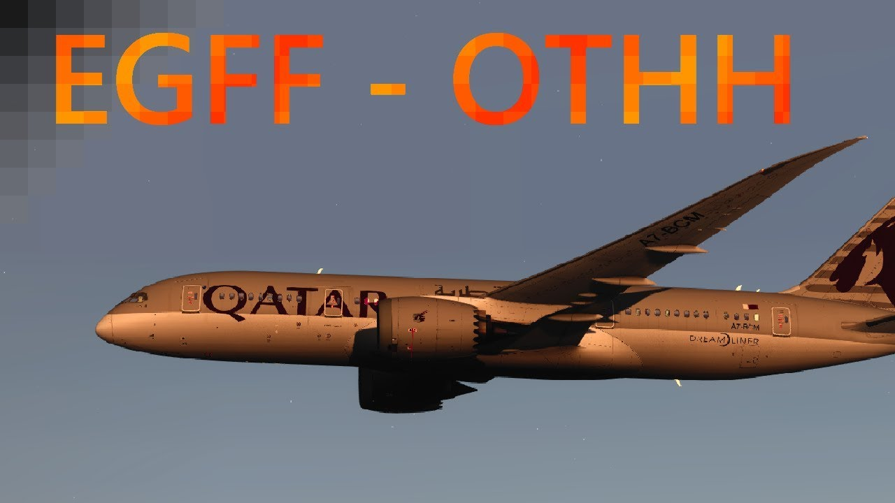 P3D V4 2 | Cardiff - Doha | QualityWings 787! by FLY X