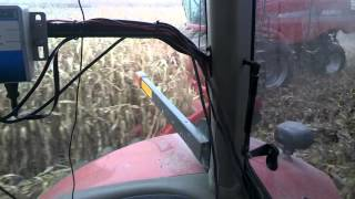 Running a grain cart in corn with Google Glass 2