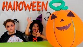 ABÓBORA GIGANTE DE HALLOWEEN COM SURPRESAS!!! (Giant Pumpkin Halloween with surprises!!!)