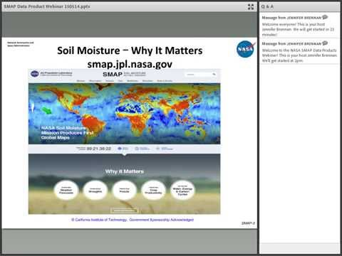 NASA Earthdata Webinar: NASA Soil Moisture Active Passive Mission (SMAP) Data Products