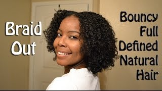 How To: Braid Out on Natural Hair