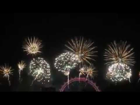 LONDON UK FIREWORKS 2018 ❤️ Happy New Year From LONDON ❤️