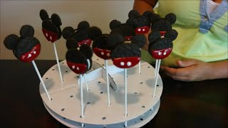 Cómo Hacer Mickey Mouse Cookie Pops / Paletas de Mickey Mouse