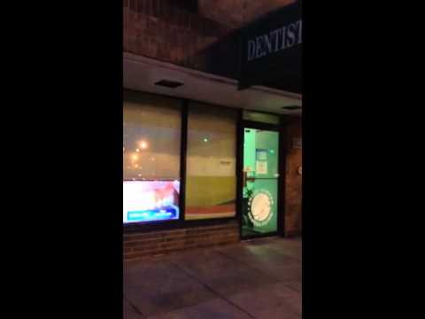 Crazy dental work broadcast to passersby on 14th Street in