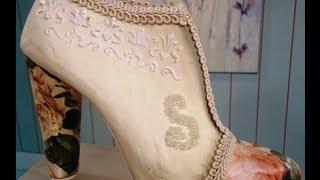 Repeat youtube video Como hacer cartapesta en zapatos vintage