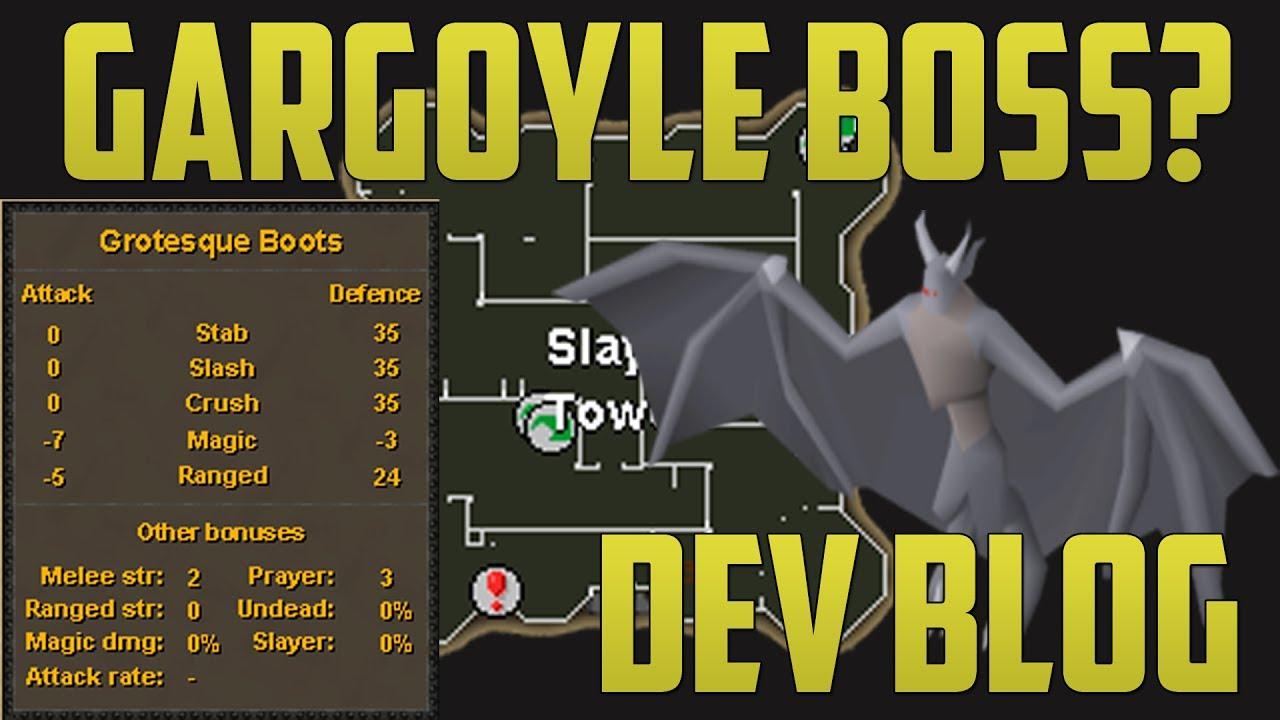 OSRS Gargoyle Boss Dev Blog (Grotesque Boots)