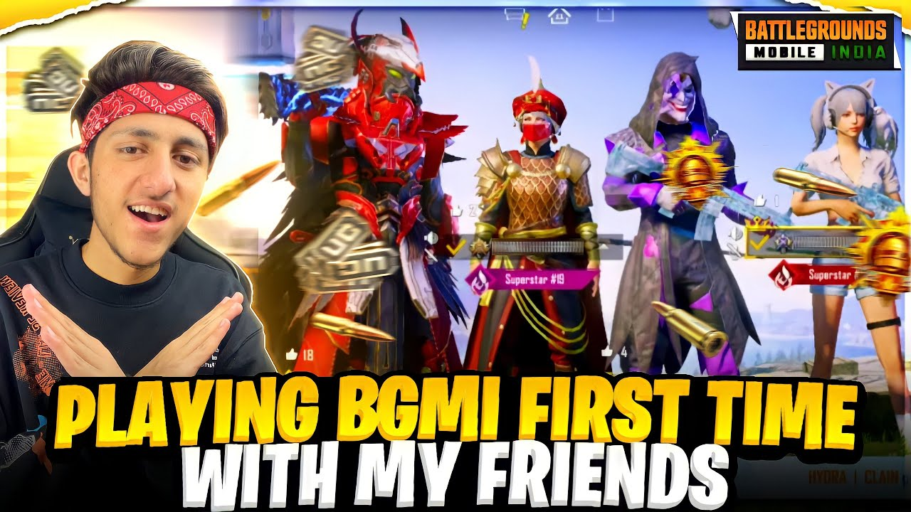 As Gaming Playing 1st time BGMI With Friends And Subscribees Crazy Moment