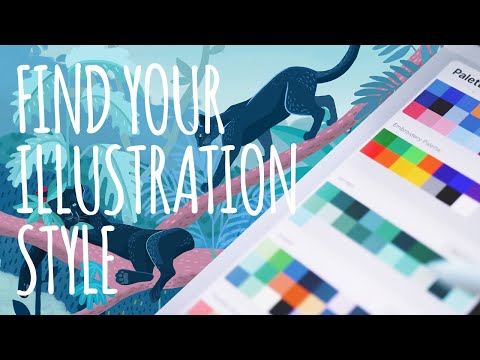 ILLUSTRATION Tutorial: COLOR TIPS to help YOU find your own ILLUSTRATION STYLE