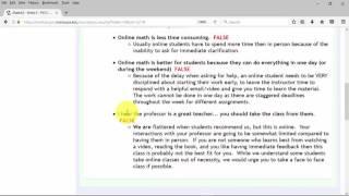 PVCC Online Math Intro Video