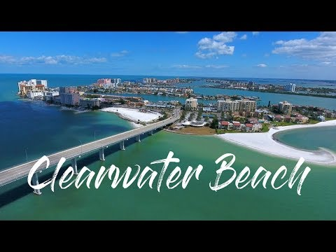 Clearwater Beach Florida Drone Video