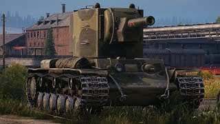 World of Tanks KV-2 - 14 Kills 6,7K Damage (1 VS 5)