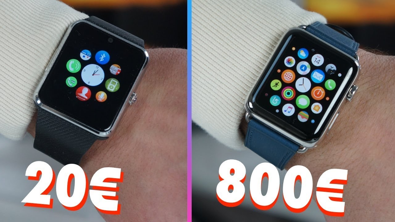 Montre Connectee 20 Vs Apple Watch 800 Youtube