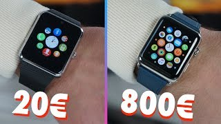 Montre connectée (20€) VS Apple Watch (800€)