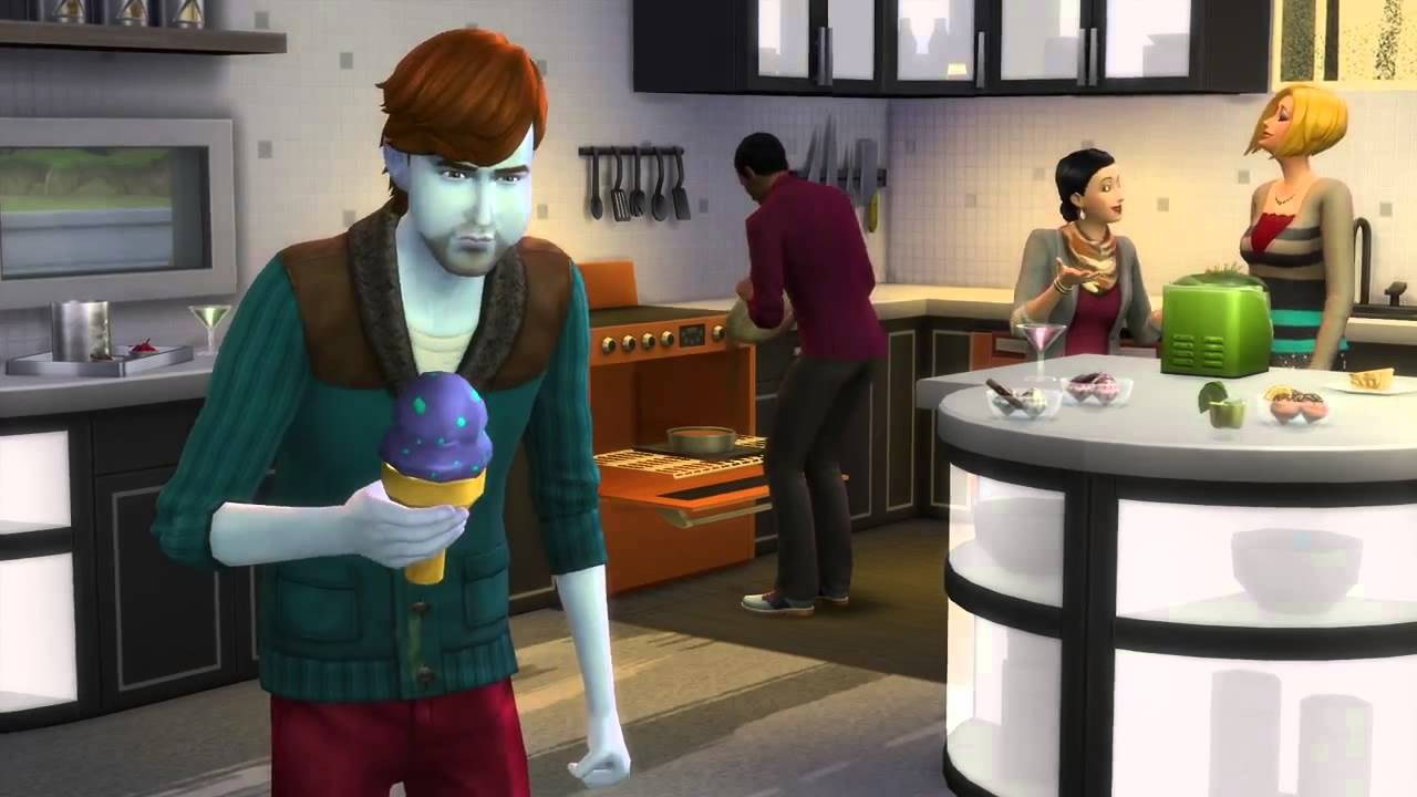 The Sims 4 Cool Kitchen Stuff Youtube