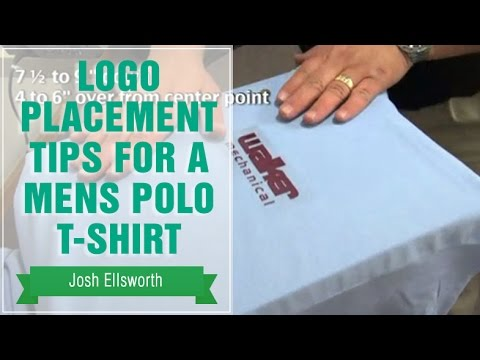 Heat Transfer Placement Tips For A Mens Polo T Shirt